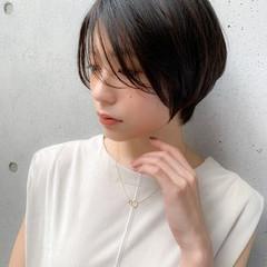 ナチュラル ショート ナチュラル可愛い 丸みショート ヘアスタイルや髪型の写真・画像