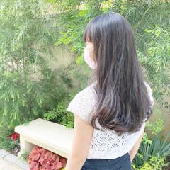 レイヤーロングヘア ロング 前髪 髪質改善 ヘアスタイルや髪型の写真・画像