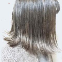 ストリート 外ハネ 外国人風 アッシュ ヘアスタイルや髪型の写真・画像