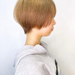 簡単スタイリング ショート 耳かけ ショートボブ ヘアスタイルや髪型の写真・画像