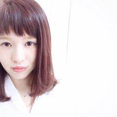 ショートバング ガーリー ベリーピンク ワンカール ヘアスタイルや髪型の写真・画像