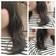 グラデーションカラー ベージュ グレージュ 大人かわいい ヘアスタイルや髪型の写真・画像