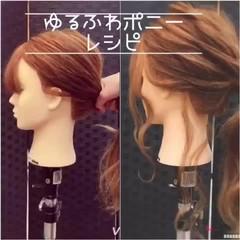 ポニーテール 簡単ヘアアレンジ ポニーテールアレンジ ヘアアレンジ ヘアスタイルや髪型の写真・画像
