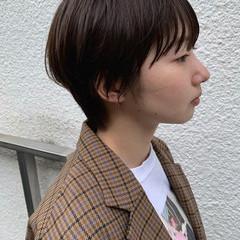 アッシュグレージュ ナチュラル ショートヘア ショート ヘアスタイルや髪型の写真・画像
