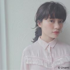 ゆるふわ お団子 ヘアアレンジ ルーズ ヘアスタイルや髪型の写真・画像
