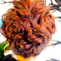 パーティ 結婚式 ルーズ 編み込み ヘアスタイルや髪型の写真・画像