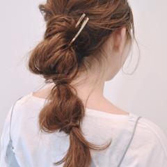 簡単ヘアアレンジ 大人女子 ショート ロング ヘアスタイルや髪型の写真・画像