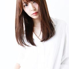 外国人風 大人かわいい ナチュラル セミロング ヘアスタイルや髪型の写真・画像