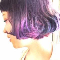 ハイトーン ガーリー ボブ ブリーチ ヘアスタイルや髪型の写真・画像