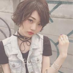 簡単ヘアアレンジ ボブ 黒髪 モード ヘアスタイルや髪型の写真・画像