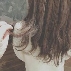 冬 デート ロング 愛され ヘアスタイルや髪型の写真・画像