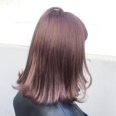 ボブ 色気 ミルクティー ミディアム ヘアスタイルや髪型の写真・画像