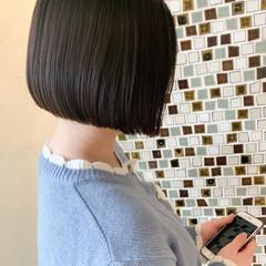 切りっぱなしボブ ボブ ミニボブ ショートボブ ヘアスタイルや髪型の写真・画像