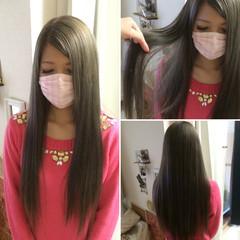 暗髪 ロング 外国人風 ナチュラル ヘアスタイルや髪型の写真・画像