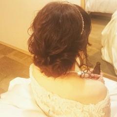 ブライダル ロング 結婚式 ゆるふわ ヘアスタイルや髪型の写真・画像