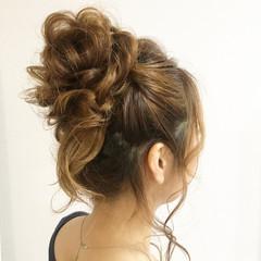 セミロング 夏 ヘアアレンジ 涼しげ ヘアスタイルや髪型の写真・画像