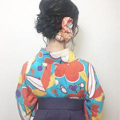 謝恩会 振袖 和服 袴 ヘアスタイルや髪型の写真・画像