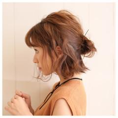ショート ストリート ヘアアレンジ 色気 ヘアスタイルや髪型の写真・画像