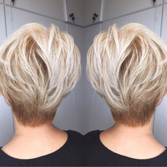ホワイト アッシュ 冬 ストリート ヘアスタイルや髪型の写真・画像