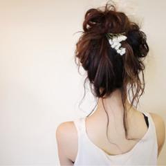 ヘアアレンジ デート ミルクティー セミロング ヘアスタイルや髪型の写真・画像