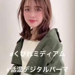 デジタルパーマ ナチュラル モテ髪 アンニュイほつれヘア ヘアスタイルや髪型の写真・画像