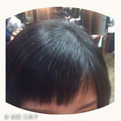前髪あり ショート 前髪パッツン 前髪アレンジ ヘアスタイルや髪型の写真・画像
