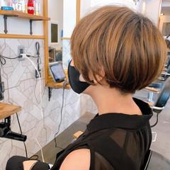 カジュアル ショート ミニボブ 簡単ヘアアレンジ ヘアスタイルや髪型の写真・画像