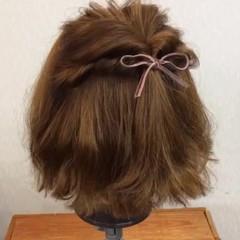 二次会 ヘアアレンジ ショート 結婚式 ヘアスタイルや髪型の写真・画像