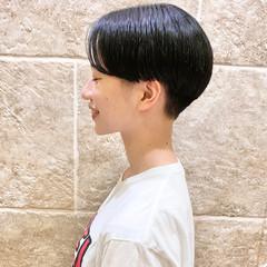 ショートヘア かりあげ ナチュラル ショート ヘアスタイルや髪型の写真・画像