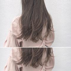 透明感 ナチュラル ウェーブ ハイライト ヘアスタイルや髪型の写真・画像