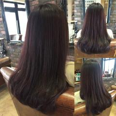 ロング 秋 冬 ピンク ヘアスタイルや髪型の写真・画像