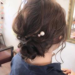 セミロング ヘアアクセ お祭り ストリート ヘアスタイルや髪型の写真・画像
