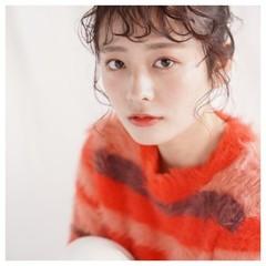 お団子アレンジ 艶髪 ガーリー 簡単ヘアアレンジ ヘアスタイルや髪型の写真・画像