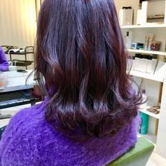 ブリーチ ピンク ダブルカラー パープル ヘアスタイルや髪型の写真・画像