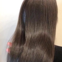 最新トリートメント 髪質改善トリートメント エアーストレート セミロング ヘアスタイルや髪型の写真・画像