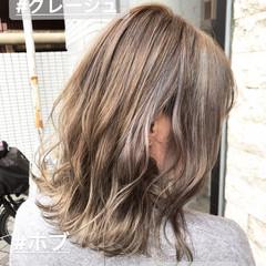 ロブ モード ボブ 切りっぱなし ヘアスタイルや髪型の写真・画像