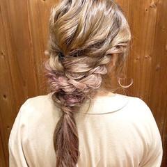 波ウェーブ ロング ヘアアレンジ 大人かわいい ヘアスタイルや髪型の写真・画像