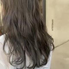 暗髪 くすみカラー ナチュラル 透明感カラー ヘアスタイルや髪型の写真・画像