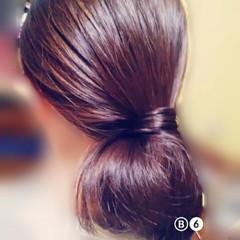 フェミニン ボブ ショート ポニーテール ヘアスタイルや髪型の写真・画像