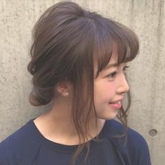 ヘアアレンジ 大人女子 簡単ヘアアレンジ ミディアム ヘアスタイルや髪型の写真・画像