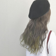 ロング カラーバター 外国人風カラー インナーカラー ヘアスタイルや髪型の写真・画像