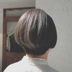 ショート ボブ 色気 オフィス ヘアスタイルや髪型の写真・画像