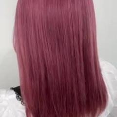 ガーリー ピンクヘア ボブ ピンク ヘアスタイルや髪型の写真・画像