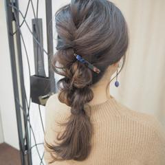 ヘアアレンジ 大人女子 簡単ヘアアレンジ ロング ヘアスタイルや髪型の写真・画像