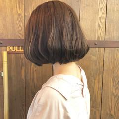 アッシュ 大人女子 ワンカール ボブ ヘアスタイルや髪型の写真・画像