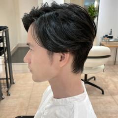 ショート センター分け メンズ センターパート ヘアスタイルや髪型の写真・画像