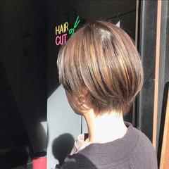 ハイライト ハンサムショート 3Dハイライト ナチュラル ヘアスタイルや髪型の写真・画像