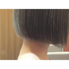外国人風カラー モード ハイトーン ボブ ヘアスタイルや髪型の写真・画像