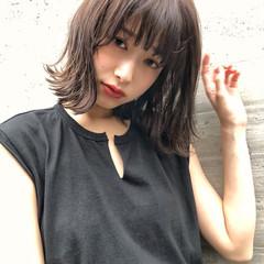ミディアム 暗髪 簡単スタイリング おしゃれ ヘアスタイルや髪型の写真・画像