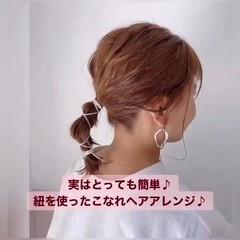 セルフヘアアレンジ ミニボブ ボブ ショートボブ ヘアスタイルや髪型の写真・画像
